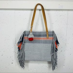 Thread World Wide Handmade Fringe Tote Bag